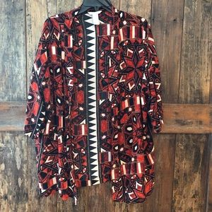 H&M, M, Red & Black Open Duster